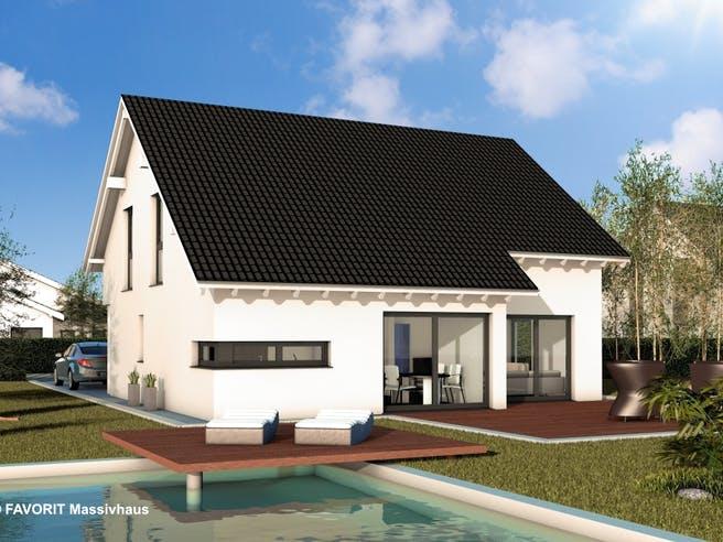 Noblesse 155 von Favorit Massivhaus Außenansicht 1
