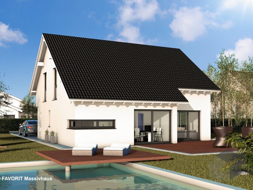Noblesse 155 von Favorit Massivhaus Außenansicht