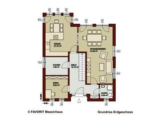 Noblesse 169 von Favorit Massivhaus Grundriss 1