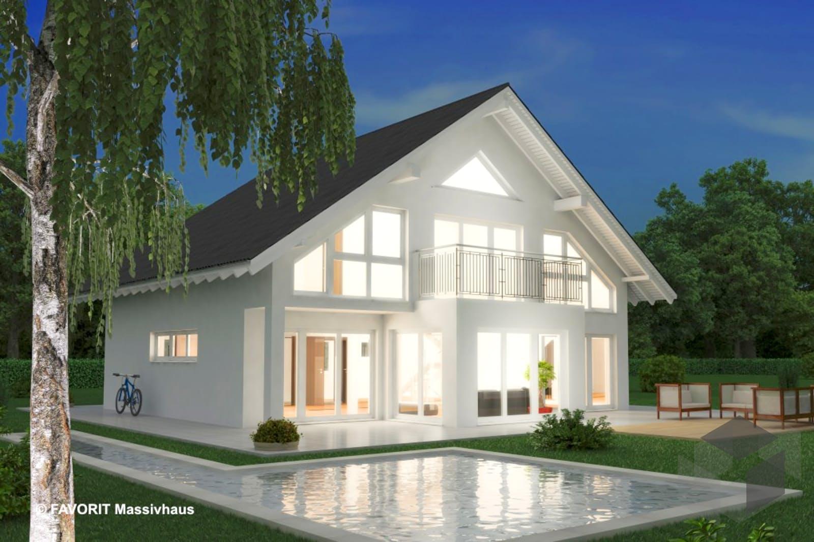 noblesse 195 von favorit massivhaus komplette daten bersicht. Black Bedroom Furniture Sets. Home Design Ideas