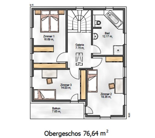 Das Noble W 155 Floorplan 2