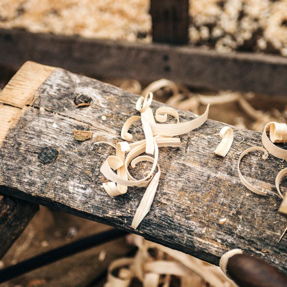 Holzspäne zur Dämmung