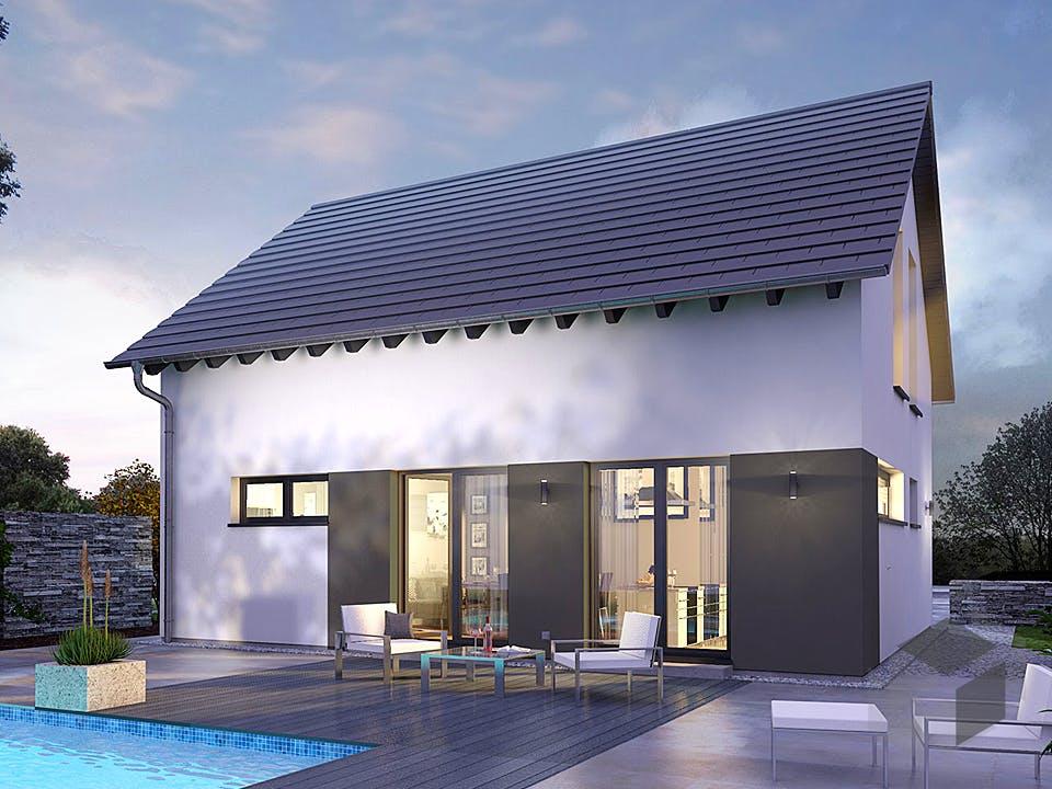 Design 09 von OKAL - Musterhaus Günzburg Außenansicht