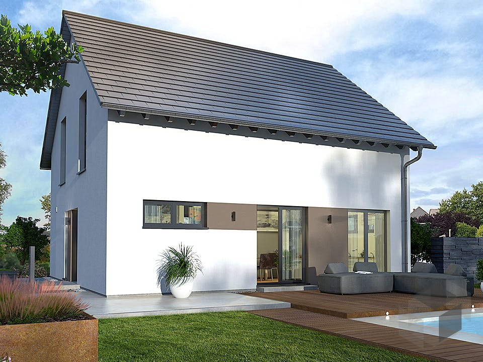 Design 15 von OKAL - Musterhaus Günzburg Außenansicht