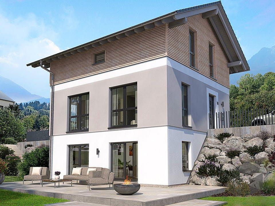 Designhaus am Berg (inkl. Keller) von OKAL - Musterhaus Günzburg Außenansicht