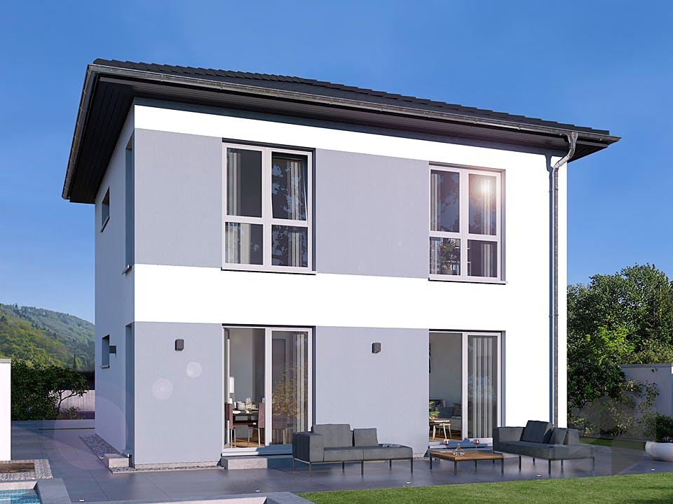Stadtvilla 11 von OKAL - Musterhaus Günzburg Außenansicht