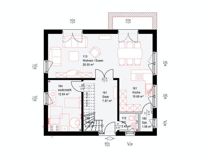 Okal F 86-92 B V1 Floorplan 1