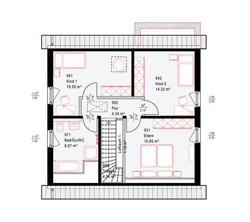 Okal F 86-92 B V1 Floorplan 2