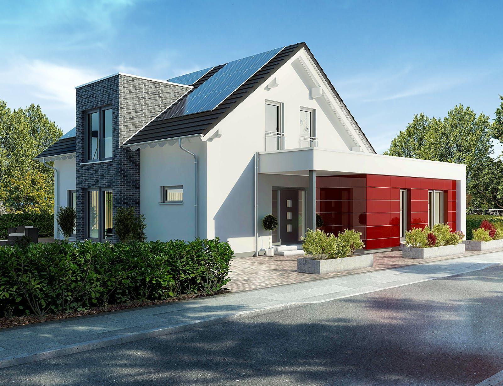 Außenansicht Musterhaus Langenhagen von OKAL Haus