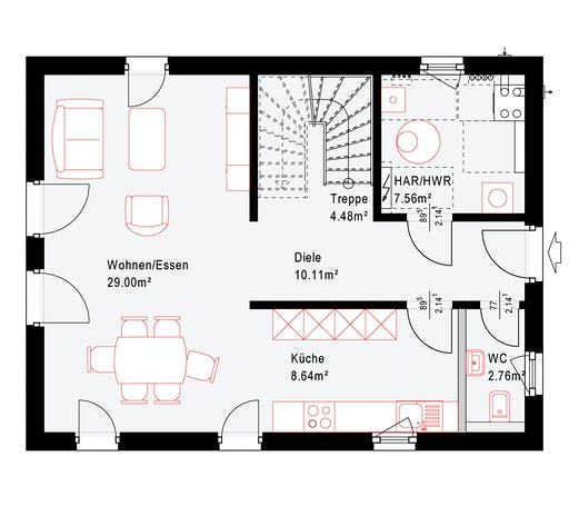 Okal Revolution 124 V4 Floorplan 1