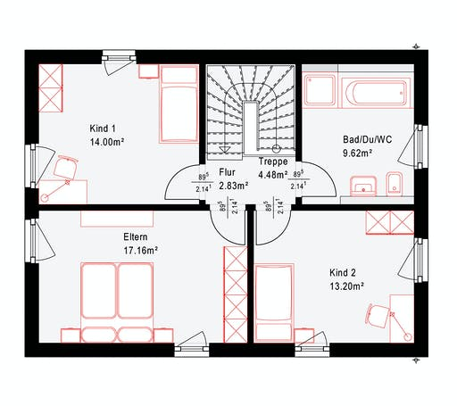 Okal Revolution 124 V4 Floorplan 2