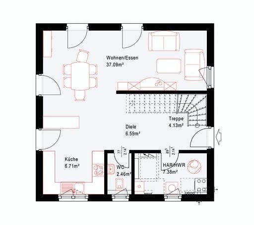 Okal Revolution 126 V1 Floorplan 1