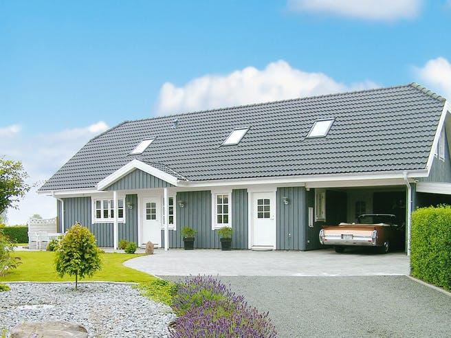 Oslo - Holzhaus im skandinavischen Stil von Danhaus Außenansicht 1
