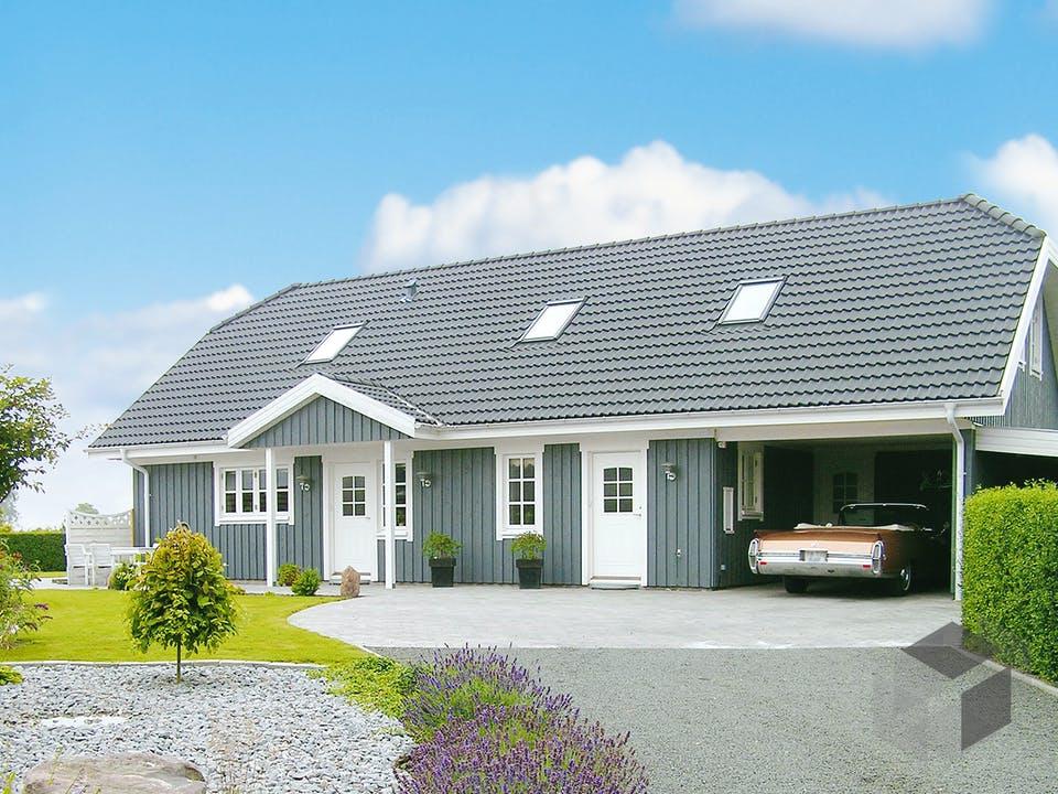 Oslo - Holzhaus im skandinavischen Stil von Danhaus Außenansicht