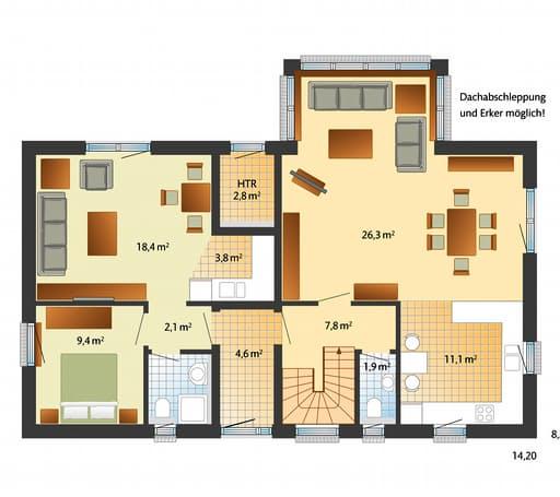 Oslo - Skandinavischer Stil Floorplan 01