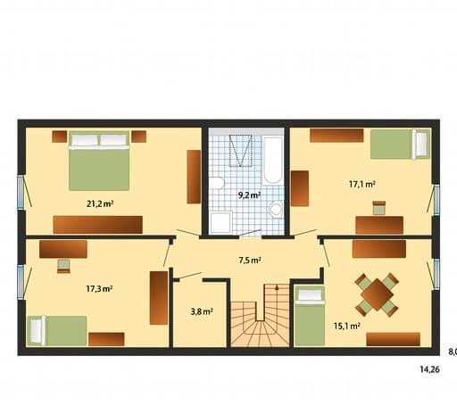 Oslo - Skandinavischer Stil Floorplan 02