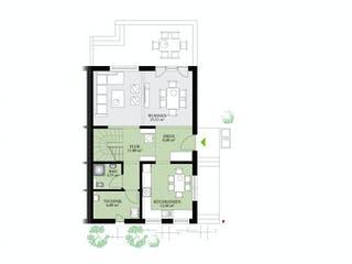 Partner 128 von DAN-WOOD HOUSE Grundriss 1