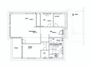 Bungalow Pultdach 156 von LUXHAUS Grundriss 1