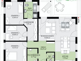 Perfect 111 von DAN-WOOD HOUSE Grundriss 1