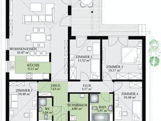 Perfect 124 von DAN-WOOD HOUSE - Österreich Grundriss 1