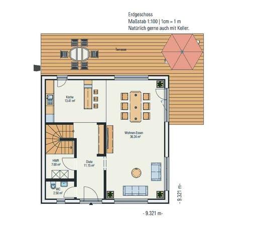 Petershaus - Stadtvilla Cube Floorplan 1