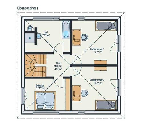Petershaus - Stadtvilla Cube Floorplan 2