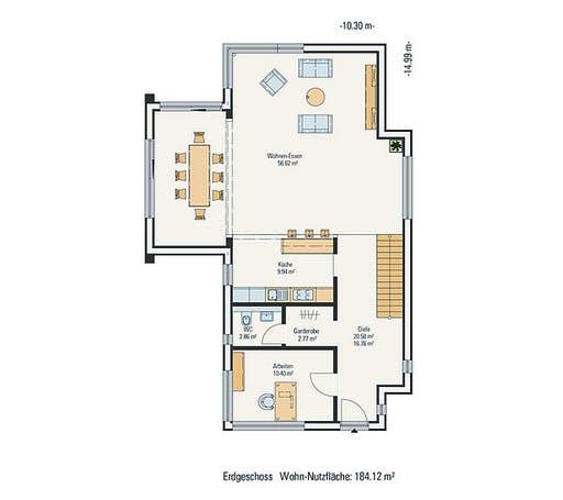 Petershaus - Musterhaus Floorplan 1