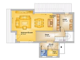 Friedberg von Projekt Hausbau PHB Grundriss 1