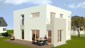 Luxhaus Planungsidee Flachdach Exterior 2