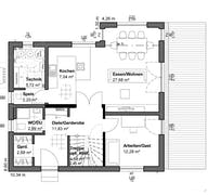 Planungsidee Flachdach Grundriss
