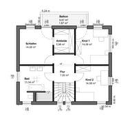 Planungsidee Pultdach Klassik Grundriss