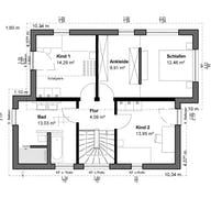Planungsidee Pultdach Modern Grundriss