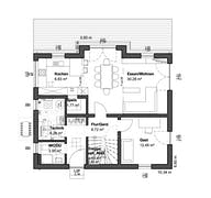 Planungsidee Satteldach Klassik Grundriss