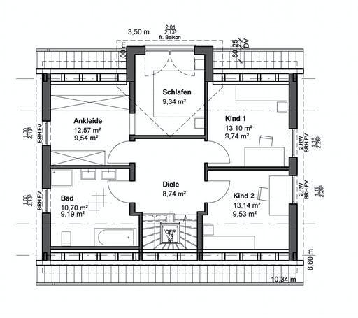 Luxhaus Planungsidee Satteldach Klassik Floorplan 2