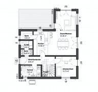 Planungsidee Satteldach Modern Grundriss
