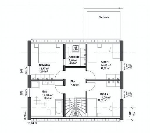 Luxhaus Planungsidee Satteldach Modern Floorplan 2