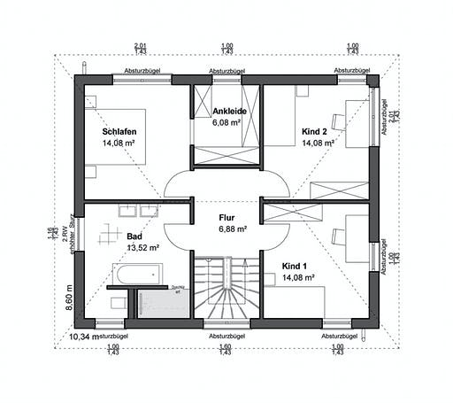 Luxhaus Planungsidee Walmdach Floorplan 2