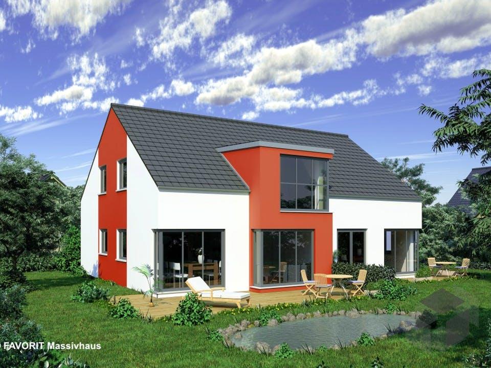 Premium 152/58 von Favorit Massivhaus Außenansicht