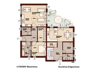 Premium 171/78 von Favorit Massivhaus Grundriss 1