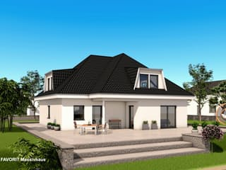 Premium 88/87 von Favorit Massivhaus Außenansicht 1