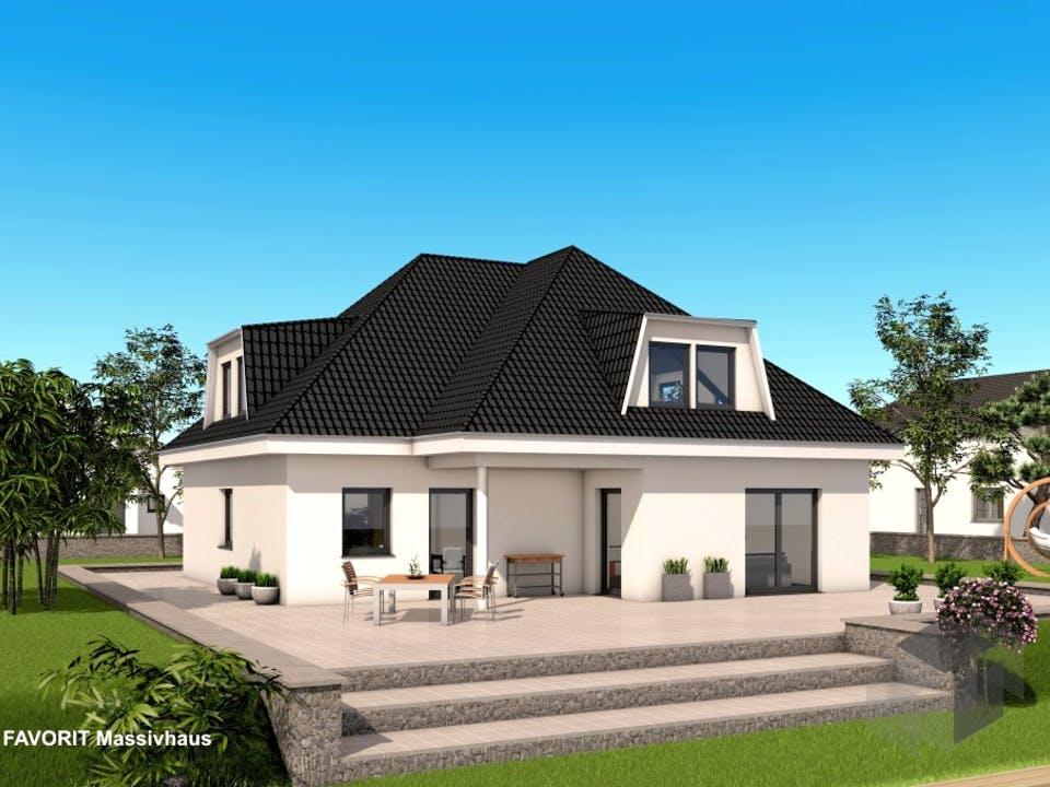Premium 88/87 von FAVORIT Massivhaus Außenansicht