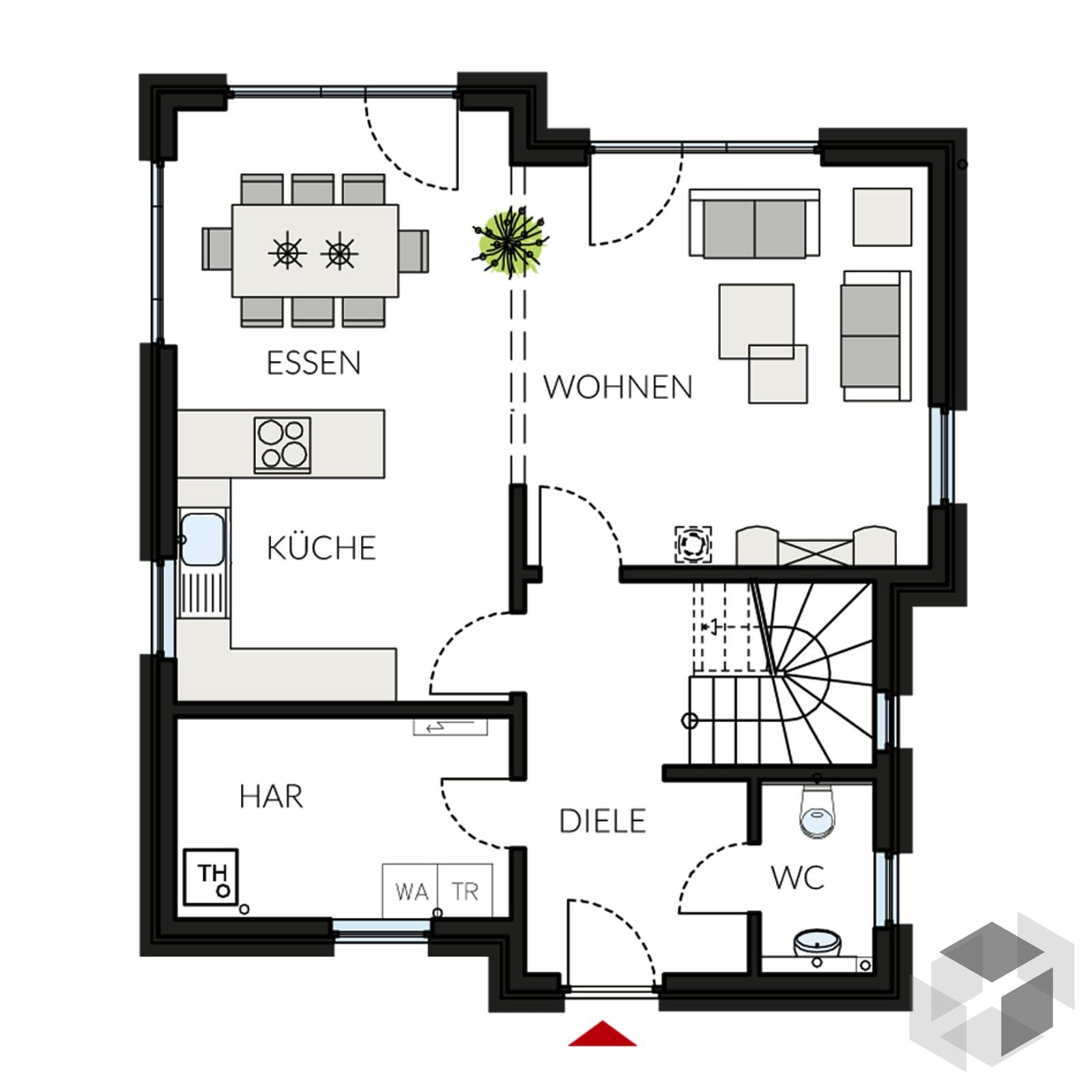 prostyle 128 pultdachhaus von prohaus. Black Bedroom Furniture Sets. Home Design Ideas