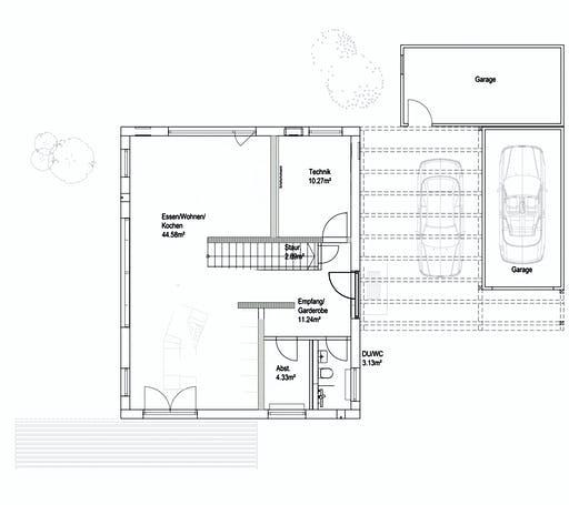 Luxhaus Pultdach Klassik 138 Floorplan 1