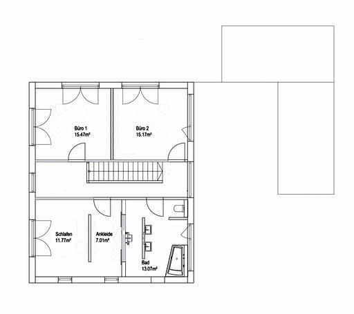 Luxhaus Pultdach Klassik 138 Floorplan 2
