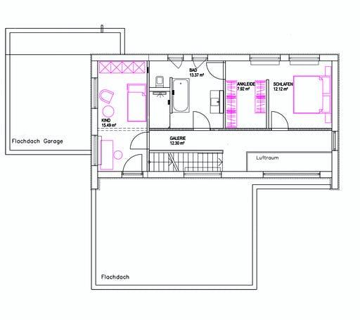 Luxhaus Pultdach Klassik 157 Floorplan 2