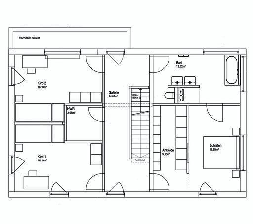 Luxhaus Pultdach Klassik 182 Floorplan 2