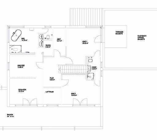 Luxhaus Pultdach Klassik 257 Floorplan 2