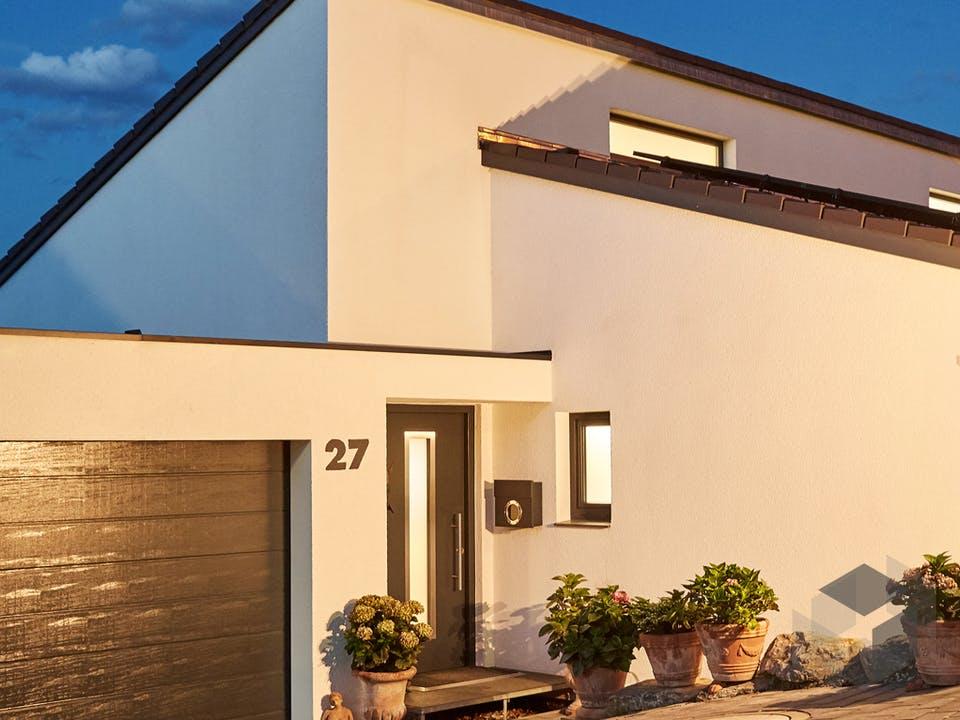 Pultdach Modern 102 von LUXHAUS Außenansicht