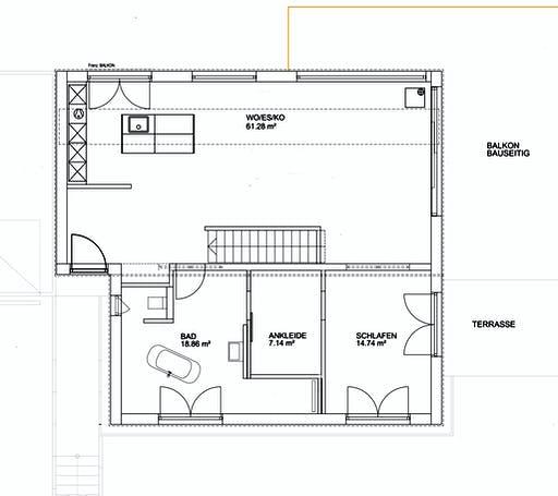 Luxhaus Pultdach Modern 102 Floorplan 1