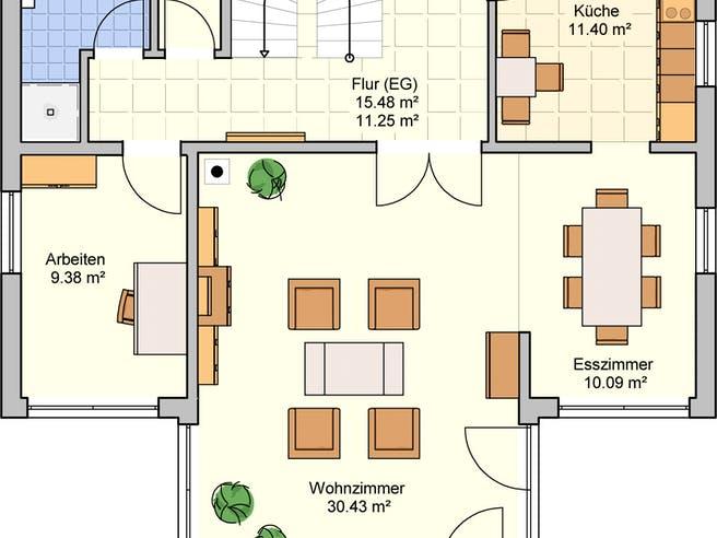 Felice von Fingerhut Haus Grundriss 1